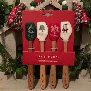 Rae Dunn Christmas mini spatula set